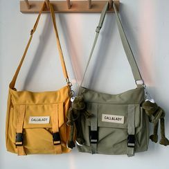 Basaran - Lettering Canvas Messenger Bag