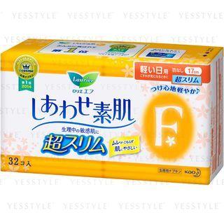 花王 - Laurier F Happiness Skin Ultra Slim Light Daily No Wing 17cm