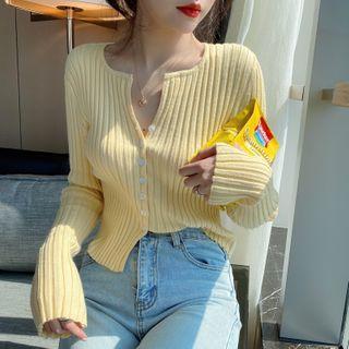 Jalynn - Ribbed Knit Cardigan
