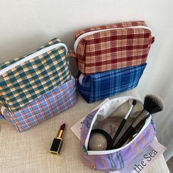 Intimo - Plaid Makeup Pouch