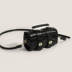 Mercillia - Top Handle Plain Crossbody Bag