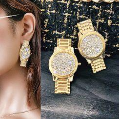Catalunya - Rhinestone Watch Style Dangle Earring
