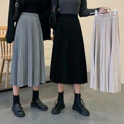 Moon City - Pleated Midi A-Line Skirt