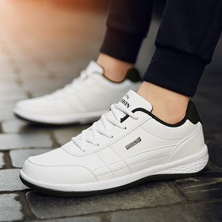 Auxen - Faux Leather Sneakers