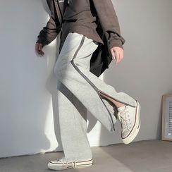 JUN.LEE - Side-Zip Slit Wide-Leg Pants