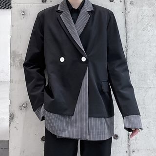 Bjorn - Striped Panel Blazer