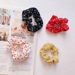 Hello minto - Heart Print Fabric Hair Tie