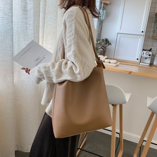 Lizzy - Faux Leather Tote Bag