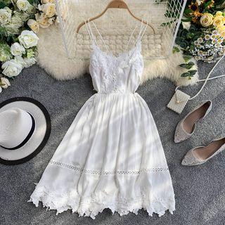 Lucuna - Strappy Midi A-Line Dress