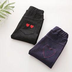 Seashells Kids - Kids Heart Applique Jeans