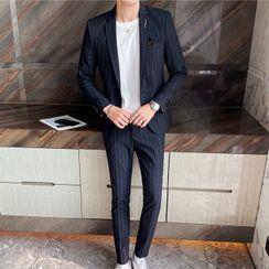 Blueforce - Set: Pinstriped Blazer + Dress Pants