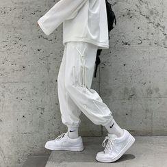Plummie - High-Waist Drawstring Sweatpants