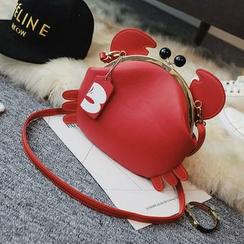 Shinian - Crab Faux Leather Shoulder Bag