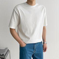 Seoul Homme - Plain Cotton Basic T-Shirt