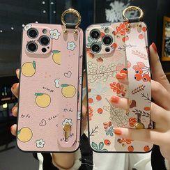 CeLLEAGUE - Floral / Tangerine Print Phone Case - iPhone/Huawei/SAMSUNG