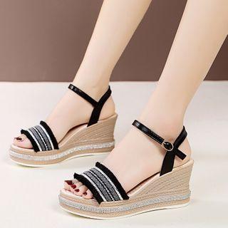 Moonlit Valley(ムーンリットバレー) - Wedge-Heel Sandals