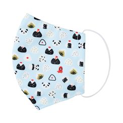 Miumi - Handmade Water-Repellent Fabric Mask Cover (Panda Print)(7-16 Years)