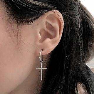 Chaffus - Mini Hoop Kreuz Ohrringe
