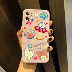 Huella - Cartoon Phone Case For iPhone SE / 7 / 7 Plus / 8 / 8 Plus / X / XS / XR / XS Max / 11 / 11 Pro