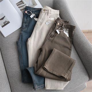 Grenoble - 水洗高腰直筒牛仔褲