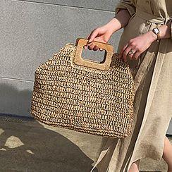 Kaiiza - Rectangular Handle Woven Handbag