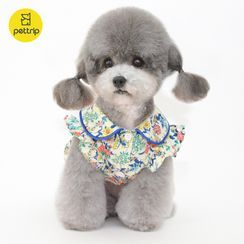 Pettrip - Floral Print Collared Pet Dress