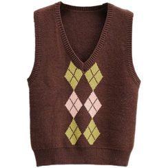Dewewan - Argyle Knit Vest