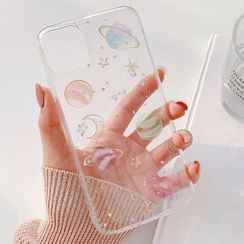 Aion - Galaxy Print Clear Phone Case - iPhone 12 Mini / 12 / 12 Pro / 12 Pro Max / 11 / 11 Pro / 11 Pro Max / X / XS / XR / XS Max / 8 / 8 Plus / 7 / 7 Plus / 6 / 6S / 6 Plus / 6S Plus