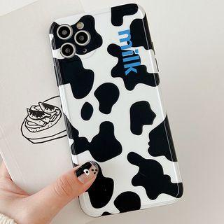 Primitivo - Cow Print Phone Case -   iPhone 11 Pro Max / 11 Pro / 11 / XS Max / XS / XR / X / 8 / 8 Plus / 7 / 7 Plus / 6S / 6S Plus / SE