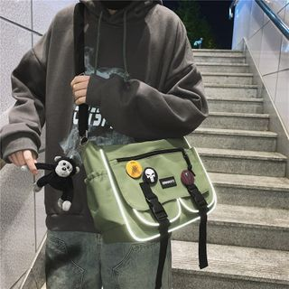 Gokk(ゴック) - Snap Buckle Multi-Section Crossbody Bag