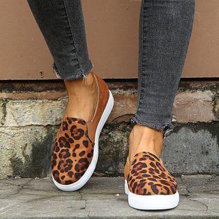 Shoesun - Printed Panel Slip-Ons