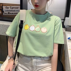 Opis - Printed Short Sleeve T-Shirt