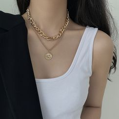 Show Mind - Pendant Layered Necklace