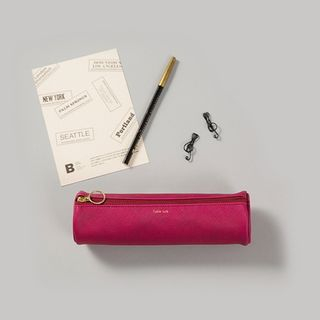 BABOSARANG - Cylinder Faux-Leather Pencil Case