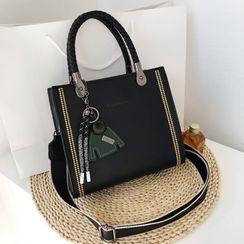Bleckker - Top Handle Wide Strap Crossbody Bag