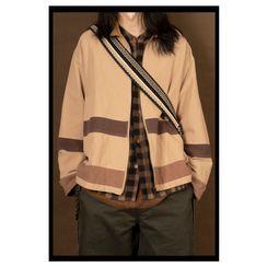 1533 Salon - 配色邊拉鏈夾克