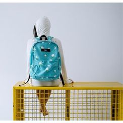 KIITOS - Printed Canvas Backpack