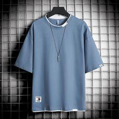Fizze - Mock Two-Piece Short-Sleeve T-Shirt