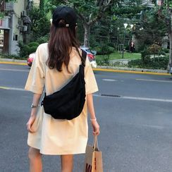 Minafox - 純色帆布斜背包