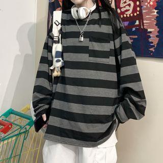 Giuliana - Long-Sleeve Striped T-Shirt