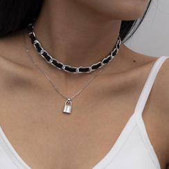 Seirios - Set of 2: Chain Lock Necklace