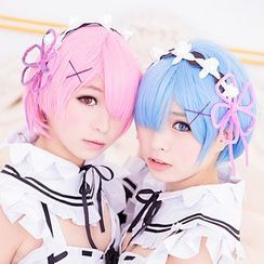 Macoss - Re: Zero - Rem / Ram Cosplay Wig