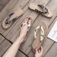 Musva - Patterned  Flip Flops