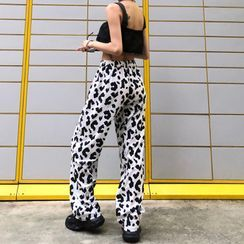 Giuliana - 宽腿豹纹印花裤