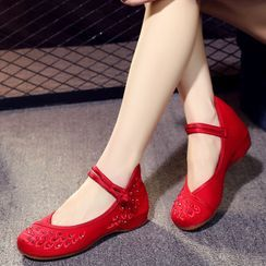 Kyotopia - 傳統內增高鞋