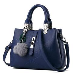 miim(ミーム) - Faux Leather Shoulder Bag
