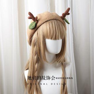 AOI - Deer Horn Beret Hat