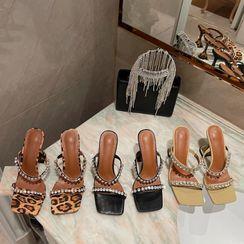 Abrivia - High-Heel Rhinestone Sandals