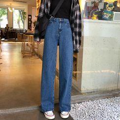 Enoki - Pantalones vaqueros de cintura alta y pernera ancha