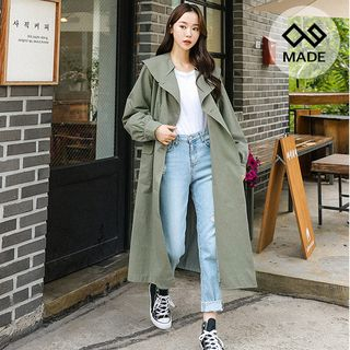 Seoul Fashion - Double-Breasted Capelet Coat